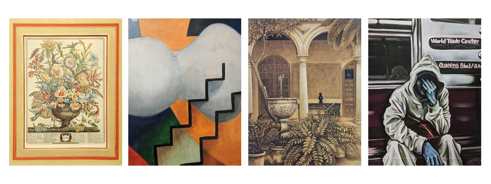 group of four artworks